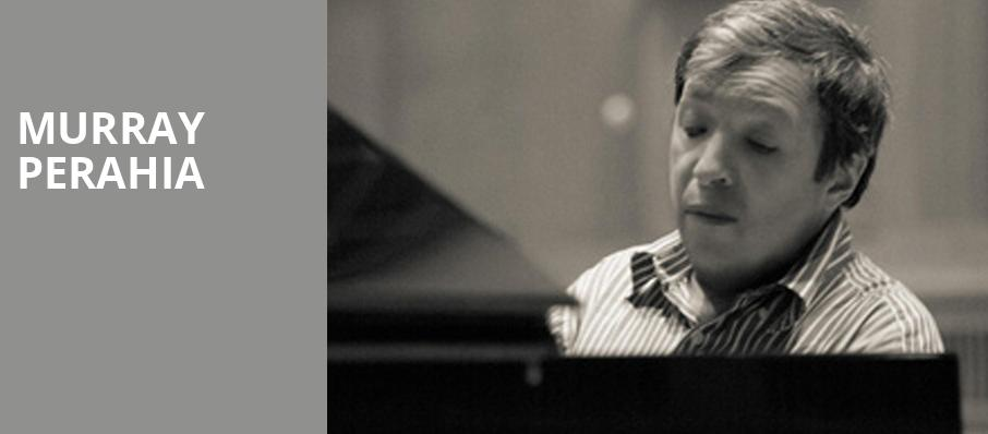 Murray Perahia, Lied Center For Performing Arts, Lincoln